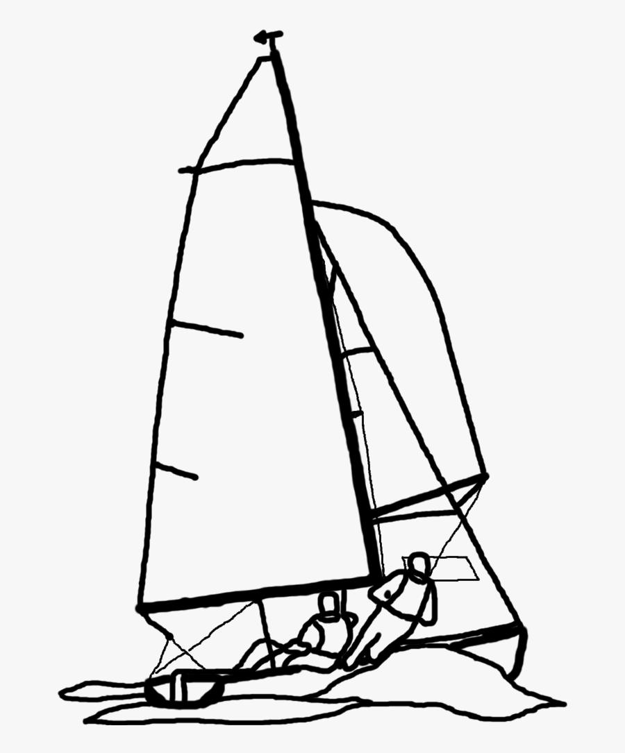Dinghy Sailing, Transparent Clipart