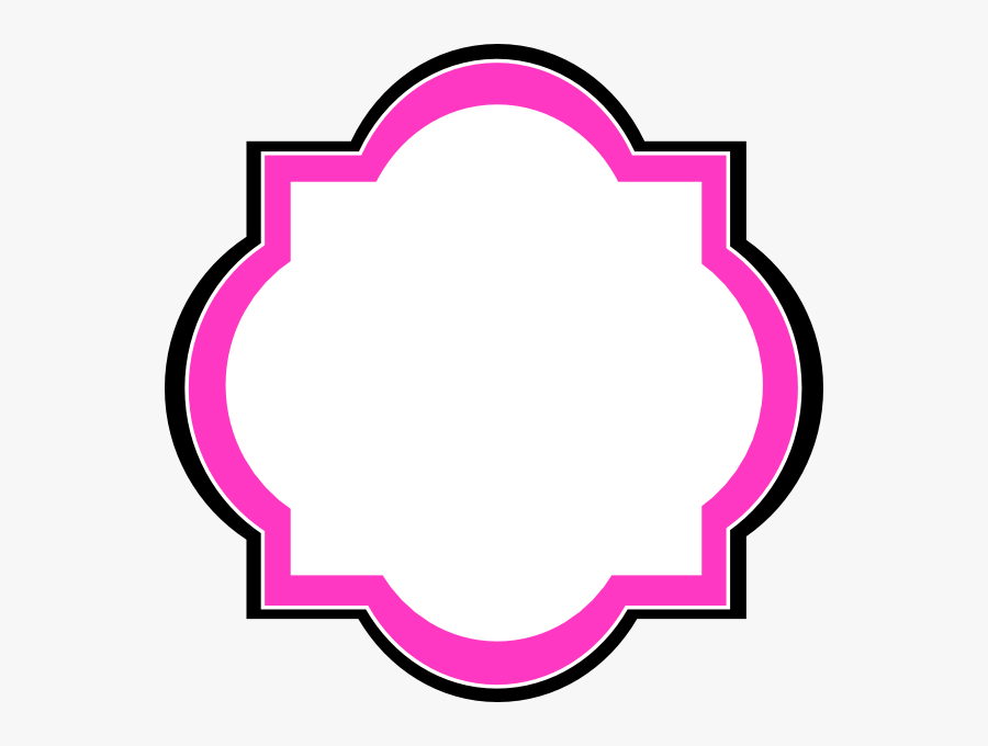 Frame Pink Label Clipart, Transparent Clipart