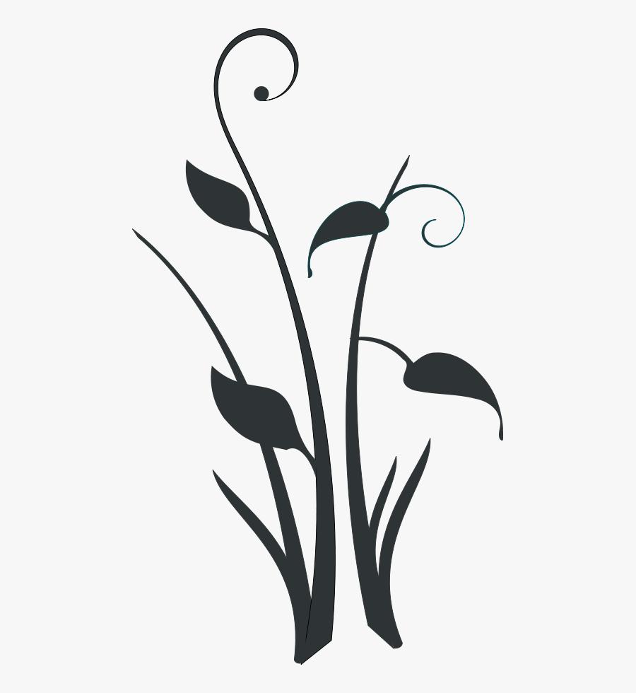 Decor Clipart Png File Tag List, Decor Clip Arts Svg - Black And White Plant Clipart, Transparent Clipart
