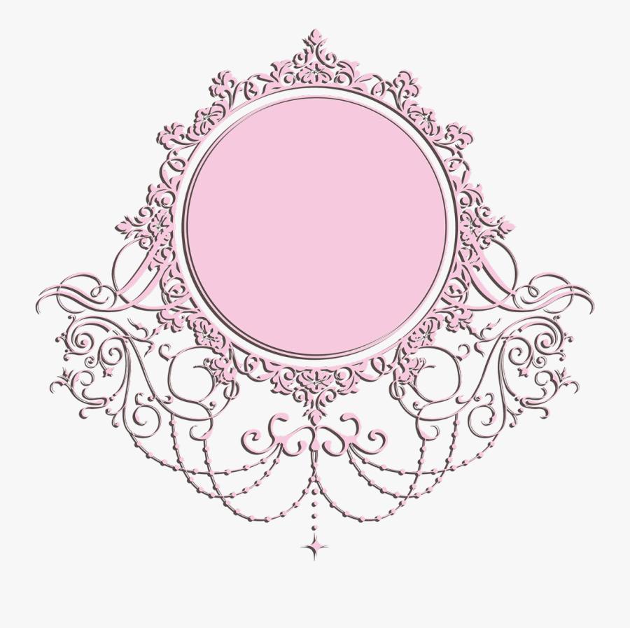 Transparent Label Frame Png - Pink Vintage Frame Png, Transparent Clipart