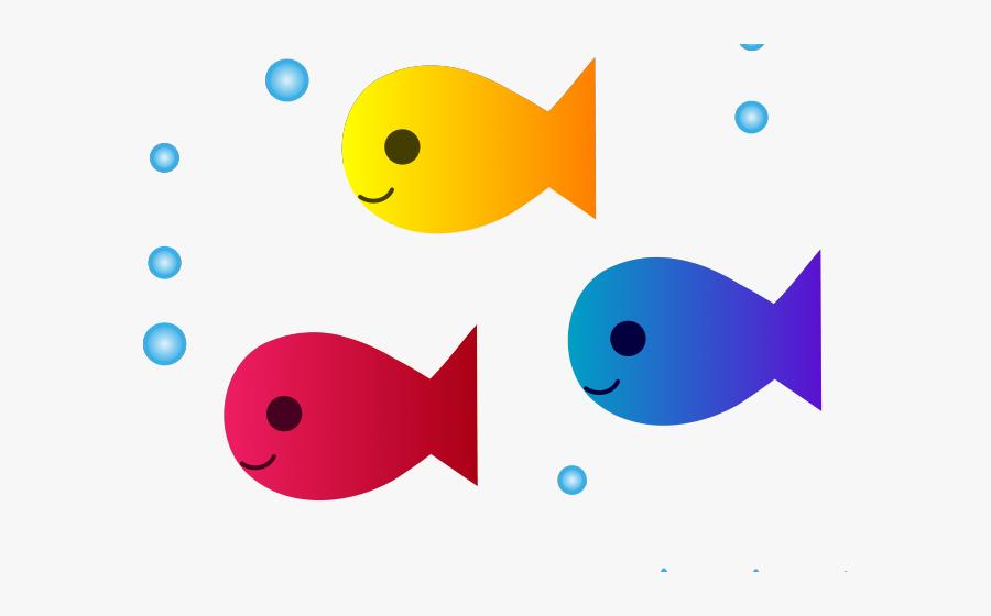 Cute Fish Clipart - Cartoon School Of Fish, Transparent Clipart