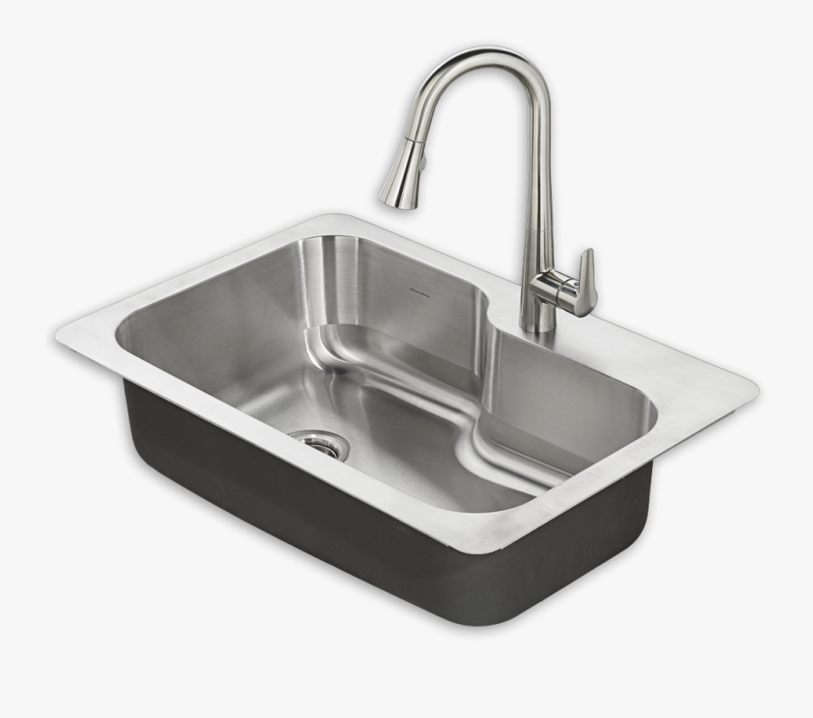 Plumbing Clipart Clogged Drain - American Standard Kitchen Sink, Transparent Clipart