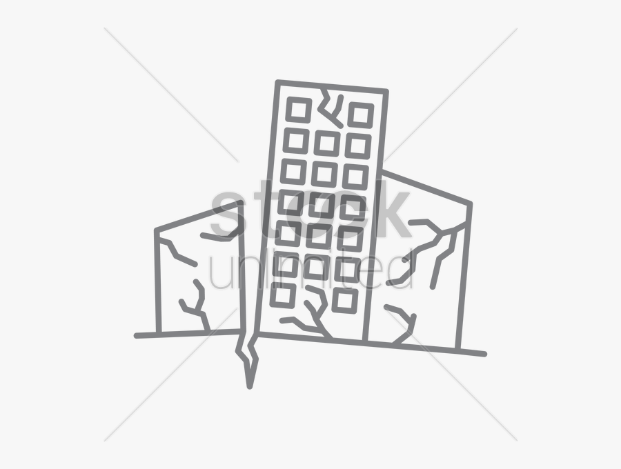 Earthquake Vector Image Earthquake Damaged Building Drawing