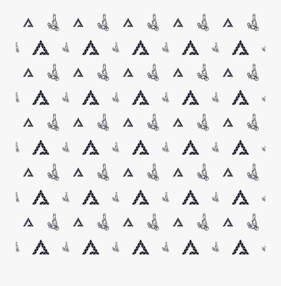 Pattern Black And White Font Design Line Triangle- - Triangle, Transparent Clipart