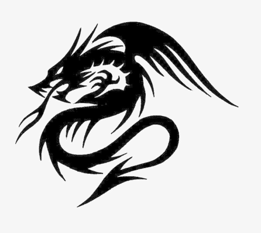 Clip Art Png Transparent Images Pluspng - Dragon Tribal Tattoo Png, Transparent Clipart