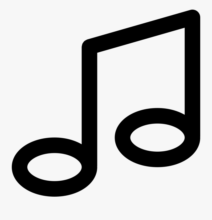 Music Note Comments - Music Note Flat Icon, Transparent Clipart