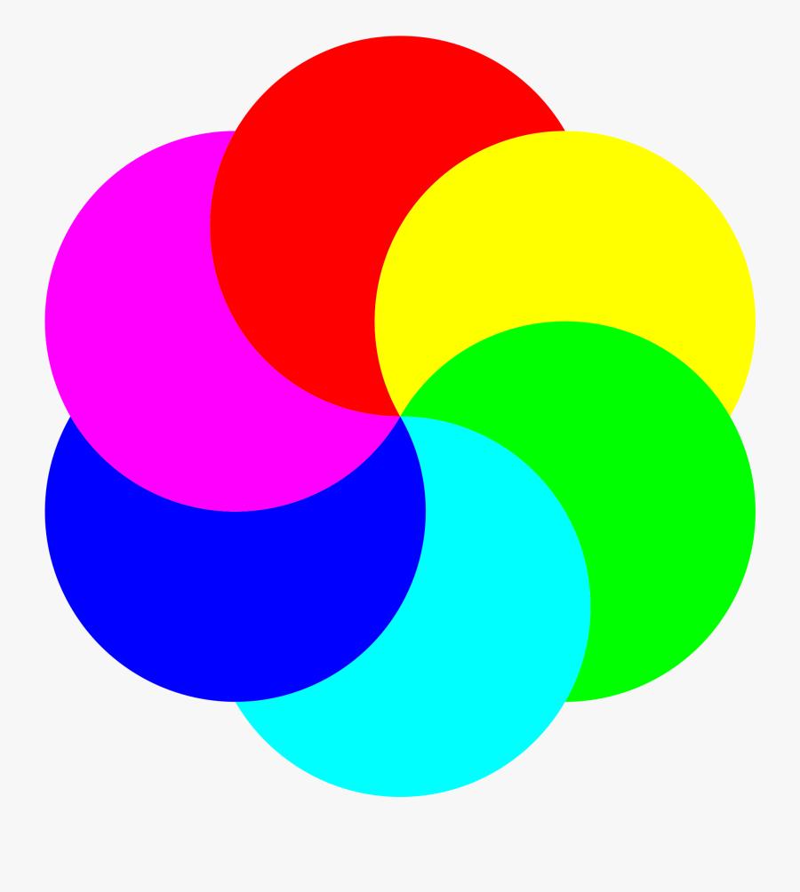 6 Partial Moons Clip Arts - Flower Color Wheel Drawing, Transparent Clipart