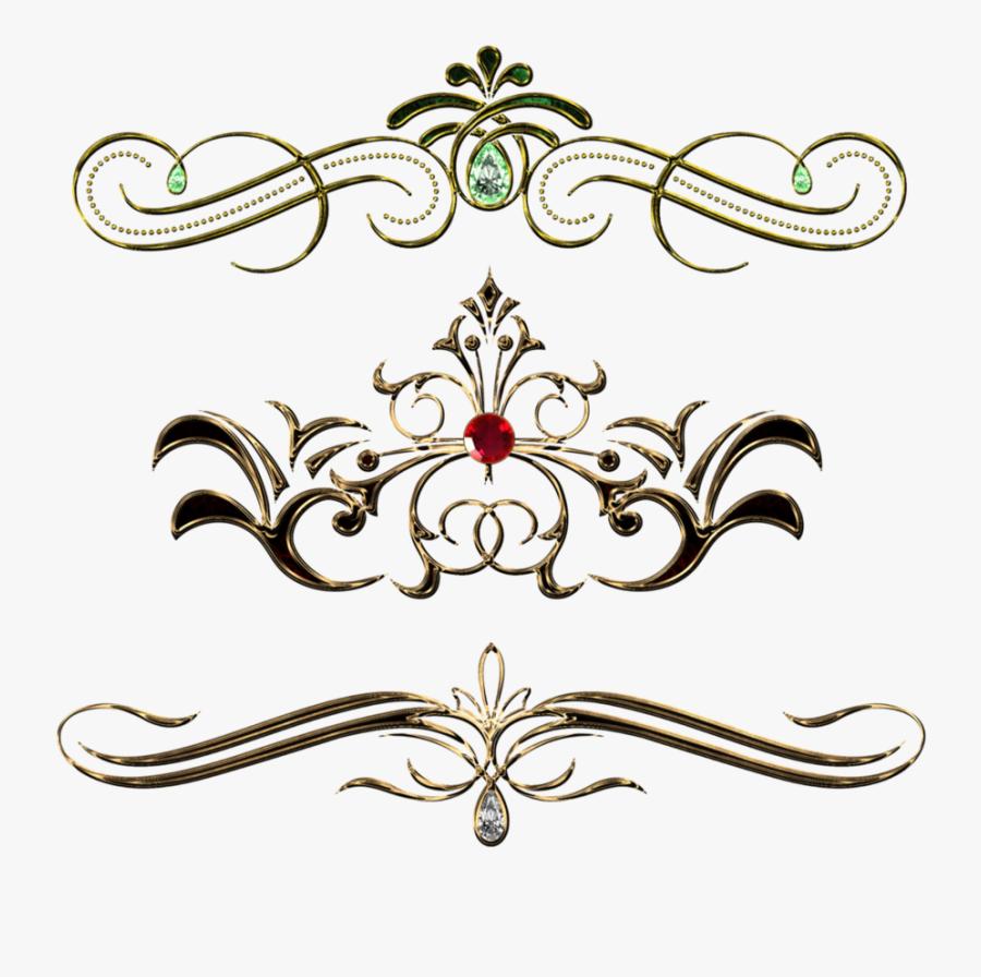 Transparent Gold Design Clipart - Vintage Pattern Design Png, Transparent Clipart