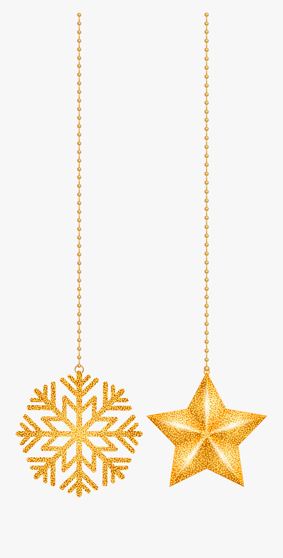 Transparent Gold Chain Gangster Png - Hanging Christmas Decoration Png, Transparent Clipart