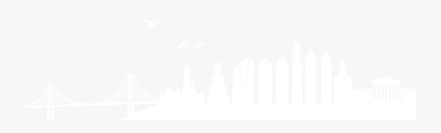 Philadelphia Skyline Png Clip Art Royalty Free Download - Philadelphia Skyline Outline Bridge, Transparent Clipart