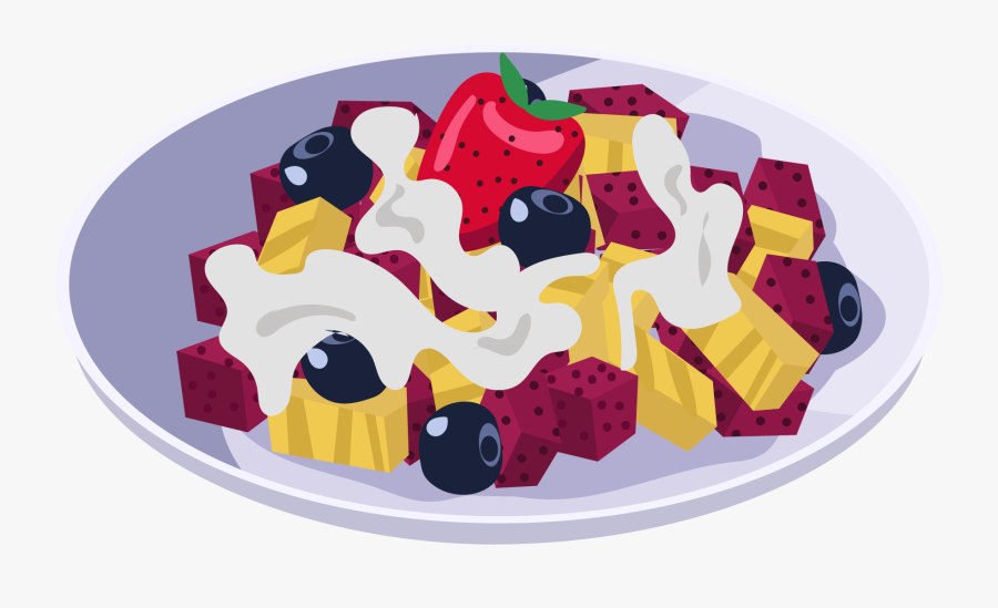Fruit Blueberry Strawberry Dragon Png And Vector Image - Salad, Transparent Clipart