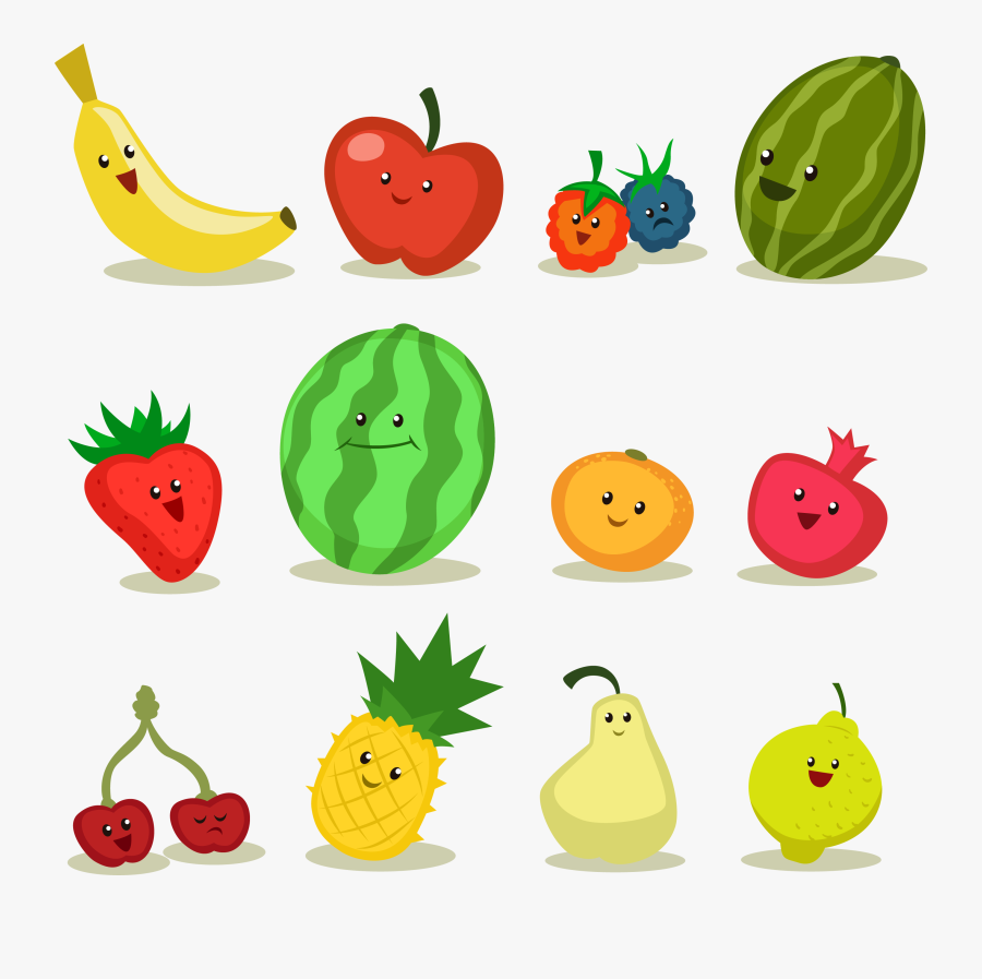 Fruit Apple Cartoon - Cartoon Fruit, Transparent Clipart