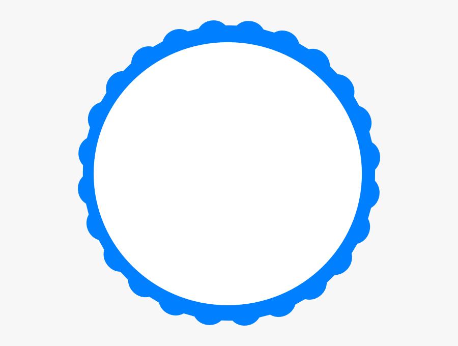 Blue Scallop Svg Clip Arts - Sky Blue Circle Logo, Transparent Clipart