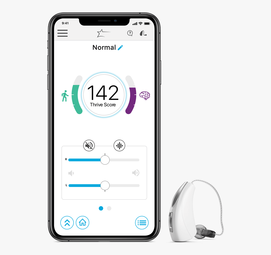 Hearing Aids For Hearing Loss - Starkey Thrive App, Transparent Clipart