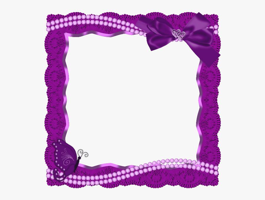Purple Butterfly Border Design Png, Transparent Clipart