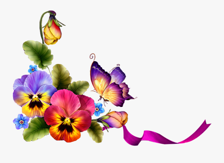 Фотки Stunning Wallpapers, Special Flowers, Borders - Butterfly Borders And Frames, Transparent Clipart
