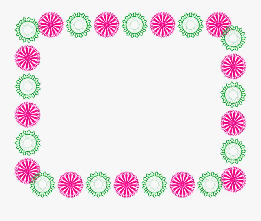 Clipart Designs Borderline - Flower Simple Border Designs, Transparent Clipart