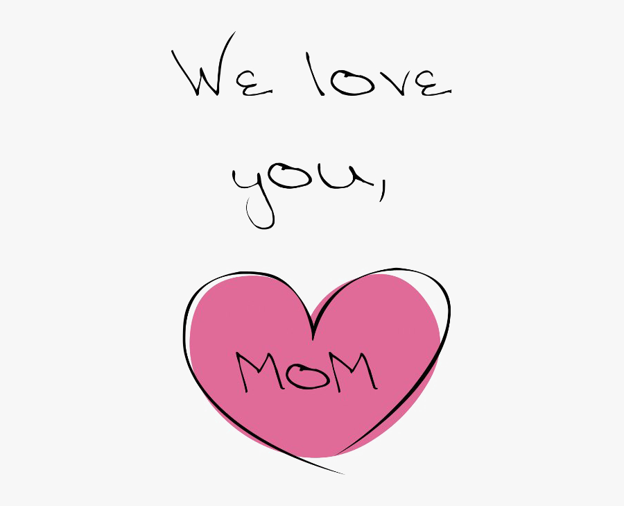 Mother's Day Love Clip Art - Love You Mom Png - Free Transparent PNG Clipart  Images Download