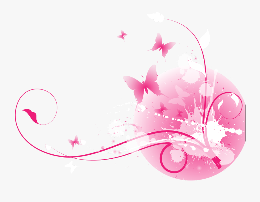#ftestickers #flowers #butterflies #floralpattern #border - Vector Floral Splash, Transparent Clipart