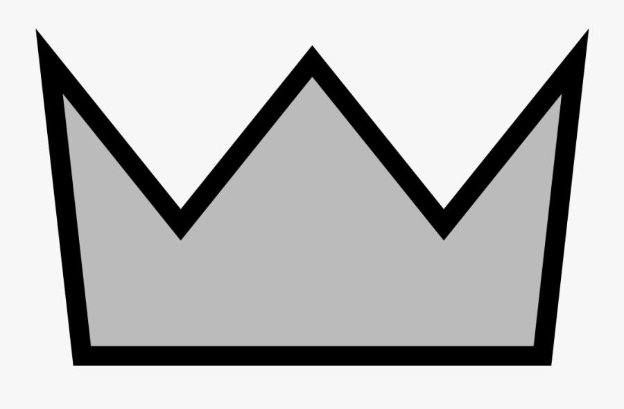 Simple Silver Crown - Burger King Crown Clipart, Transparent Clipart