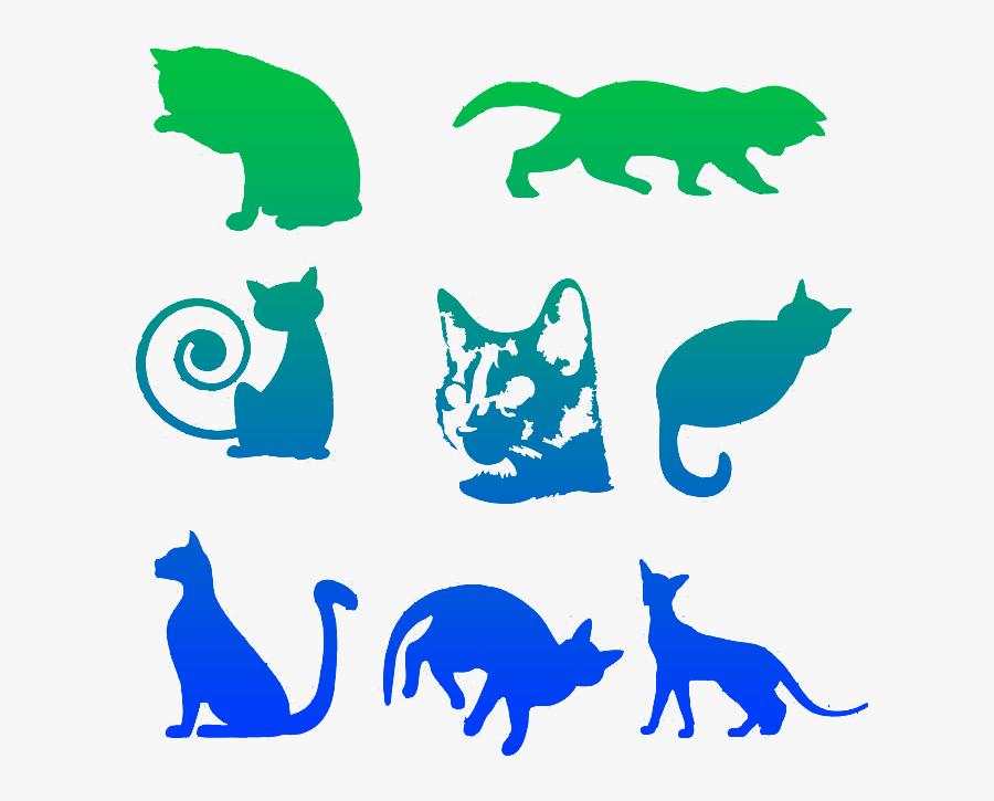 Transparent Perros Y Gatos Png - Dibujo De Gatos De Perfil, Transparent Clipart