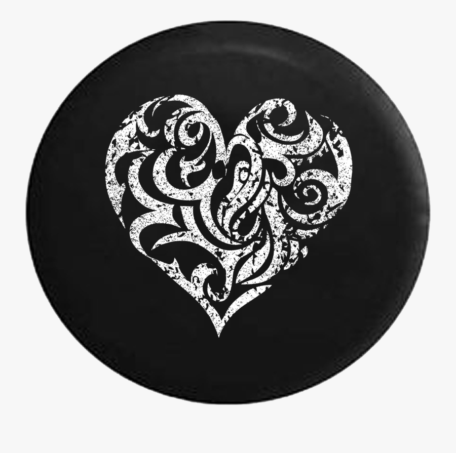 Clip Art Tire Pro Distressed Heart - Peace Sign Tire Cover For Jeep, Transparent Clipart