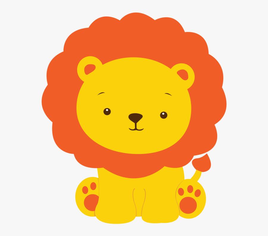 Transparent Baby Lion Clipart - Leon Safari Baby Shower, Transparent Clipart