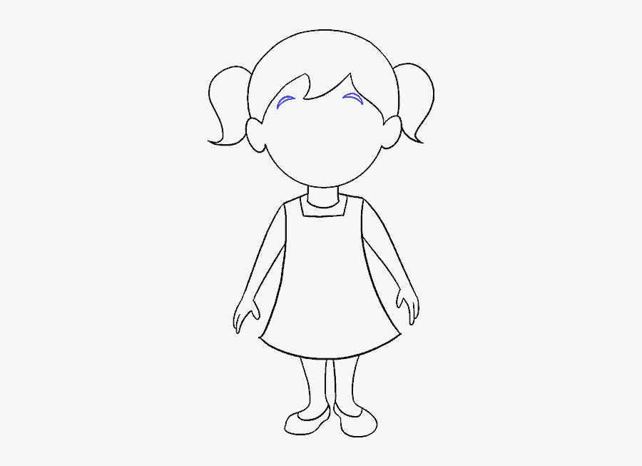 How To Draw Cartoon Girl Easy Cartoon Little Girls Free Transparent Clipart Clipartkey