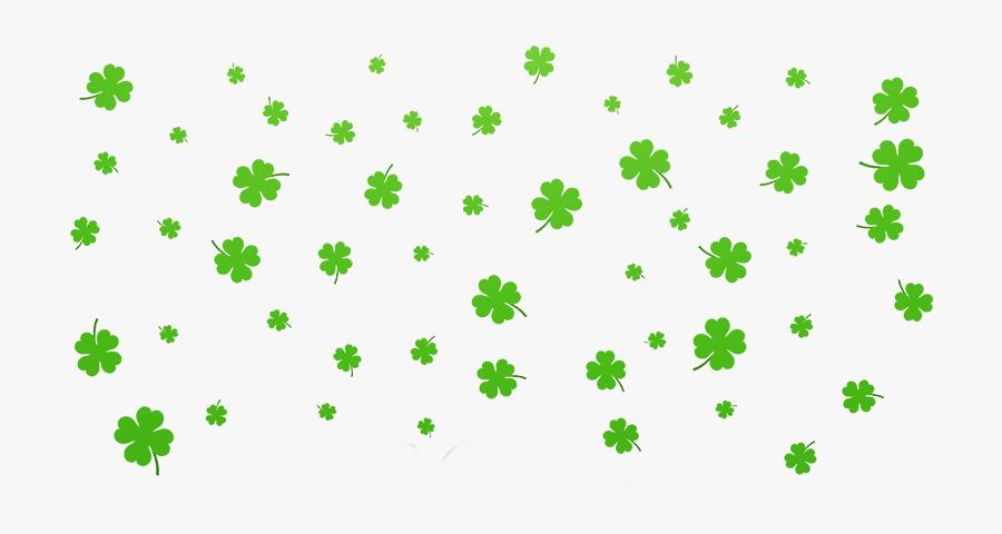 Shamrock Footer2 - Saint Patrick's Day, Transparent Clipart