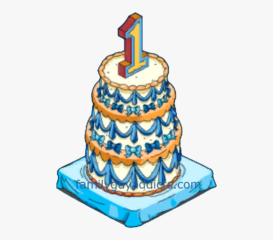 Happy Year And Clams Family Guy Addicts - 1 Year Cake Png, Transparent Clipart