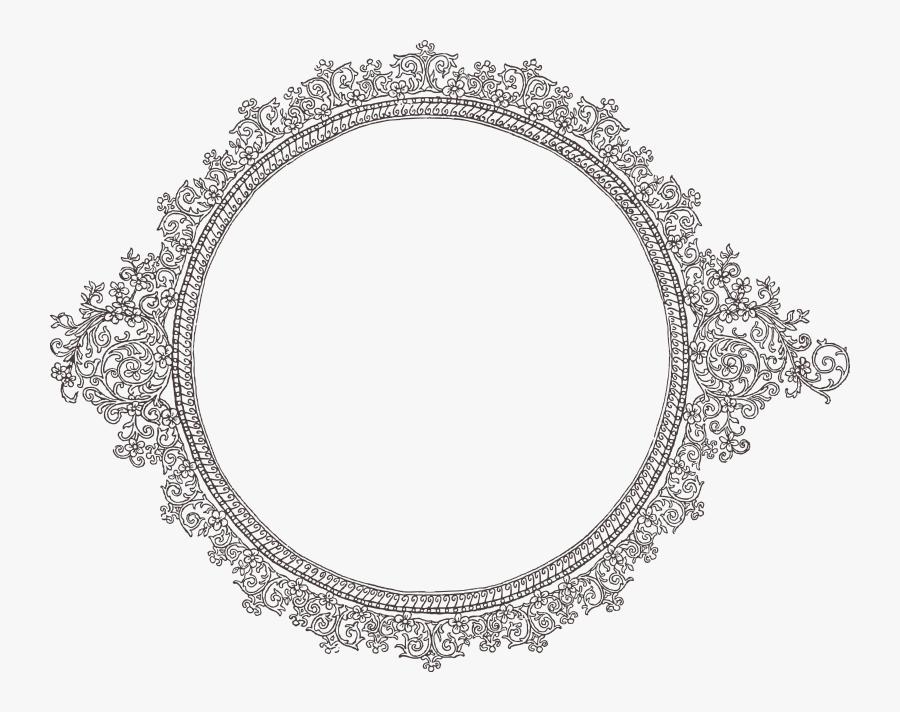 Decorative Text Box Clipart - Vintage Silver Frame Png, Transparent Clipart