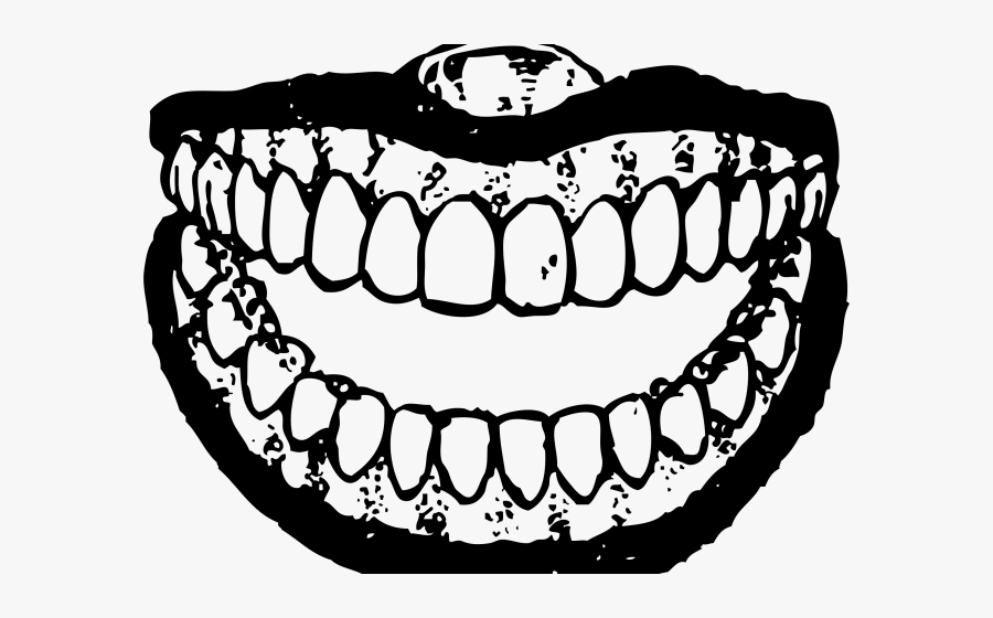Teeth Clipart Black And White - Teeth Png Transparent Black And White, Transparent Clipart