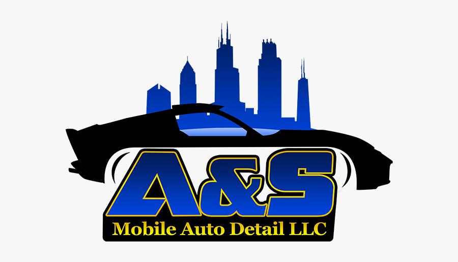 A&s Mobile Auto Detail - Silhouette Outline Chicago Skyline, Transparent Clipart