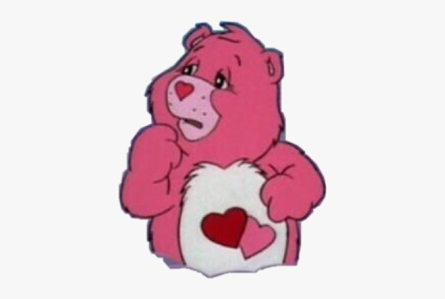 #carebear #carebears #carebearaesthetic #aesthetic - Aesthetic Png Stickers Pink, Transparent Clipart