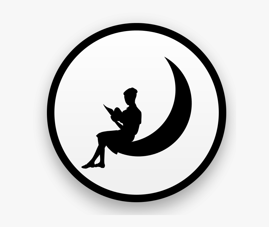 Moon Logo With Woman, Transparent Clipart