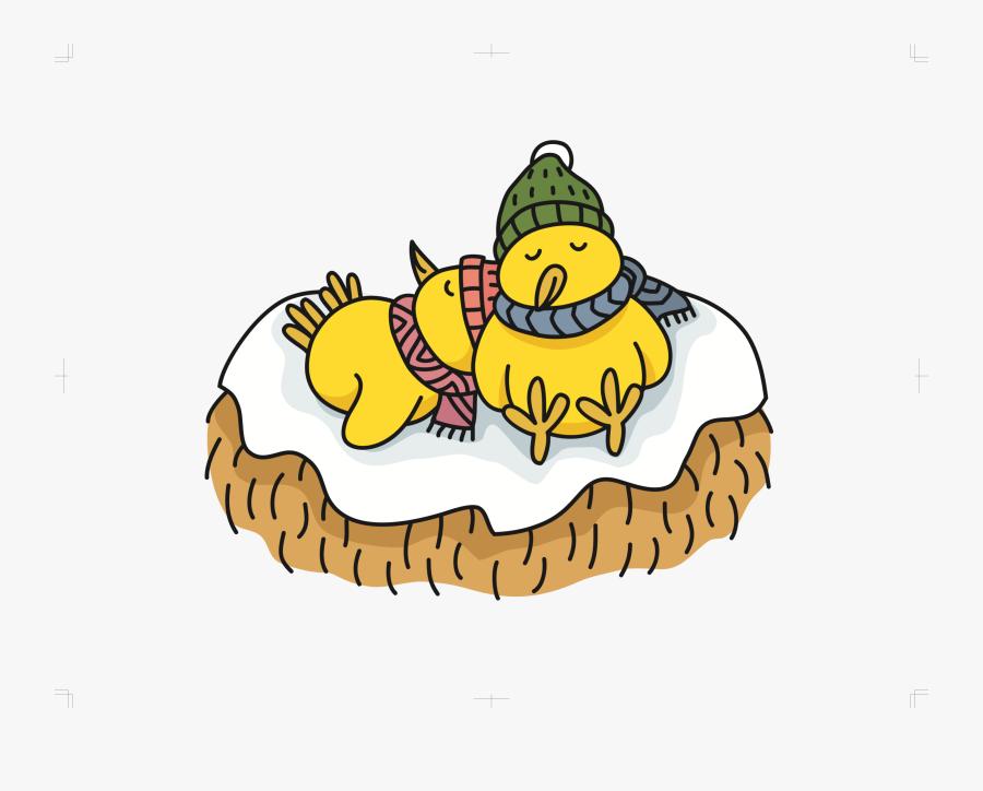 Sleeping Chicks Clip Arts - Cartoon, Transparent Clipart