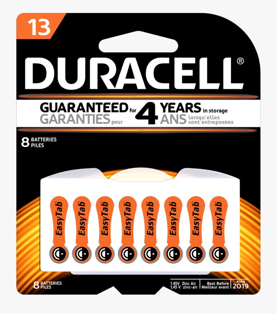 Duracell Hearing Aid Batteries 312, Transparent Clipart