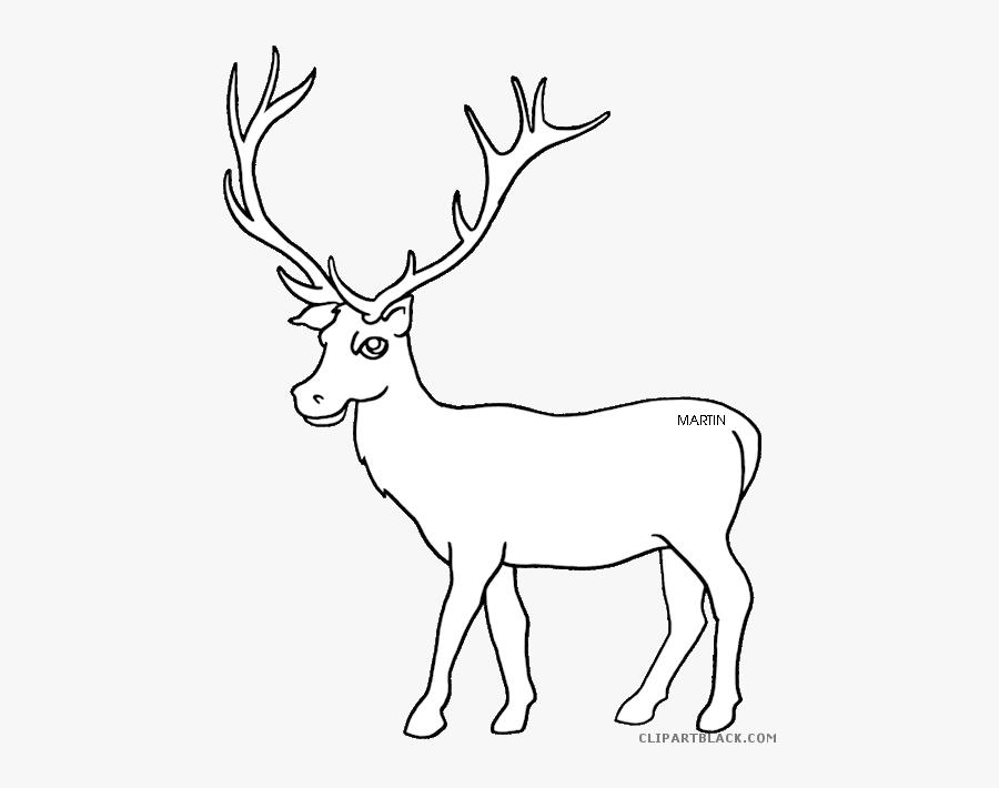 Elk Clipart Muscular - Elk Clipart Black And White, Transparent Clipart