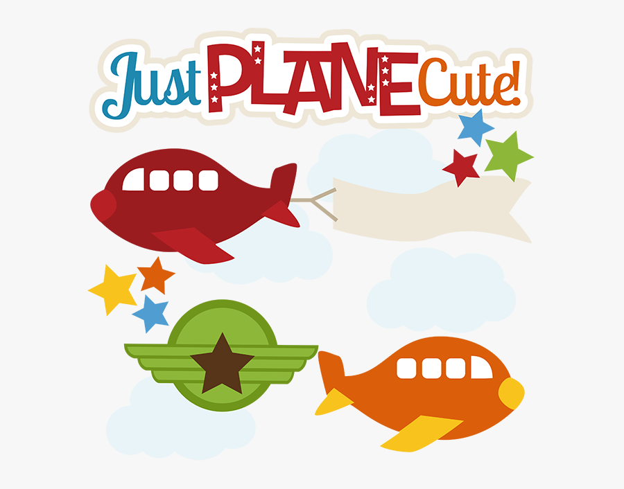Just Plane Cute - Cute Red Airplane, Transparent Clipart