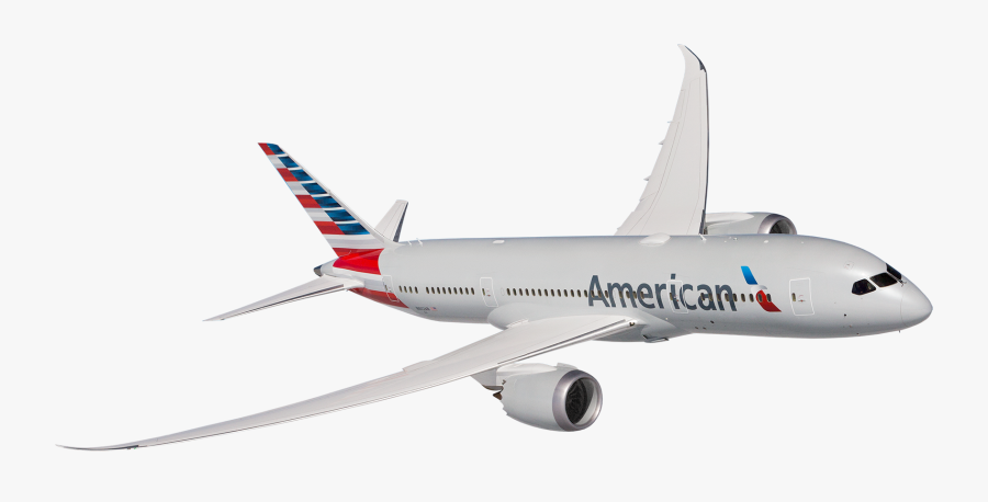 Top Banner Plane - 787 Dreamliner American Airlines, Transparent Clipart