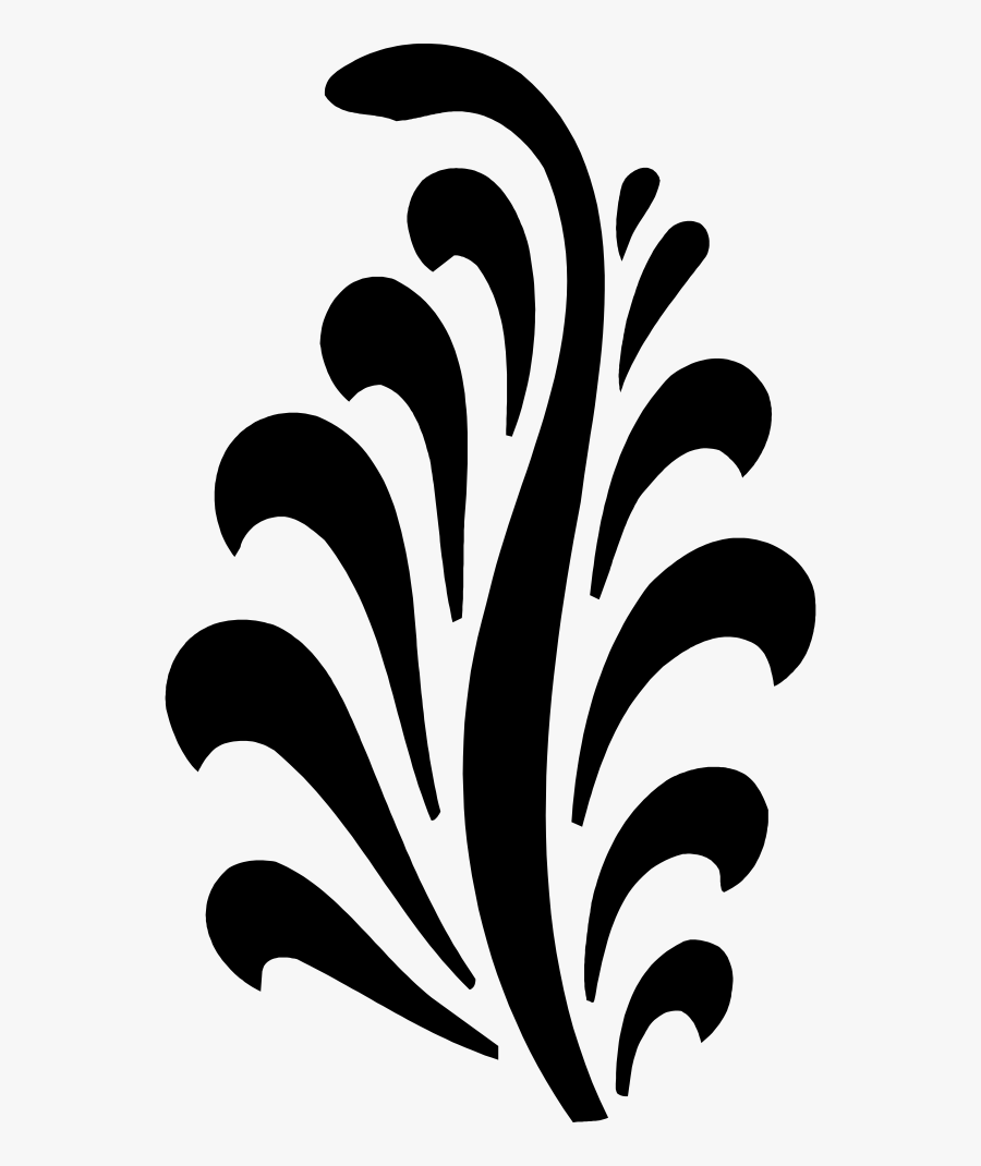 Abstract Black White Design, Transparent Clipart