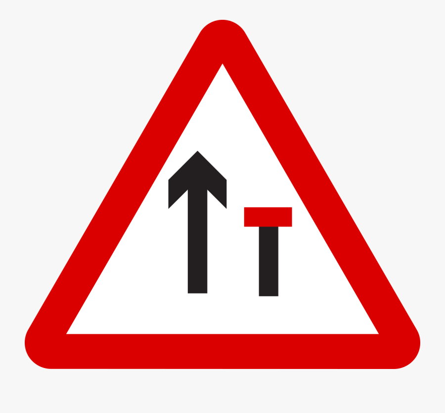 Two Way Traffic Road Sign, Transparent Clipart