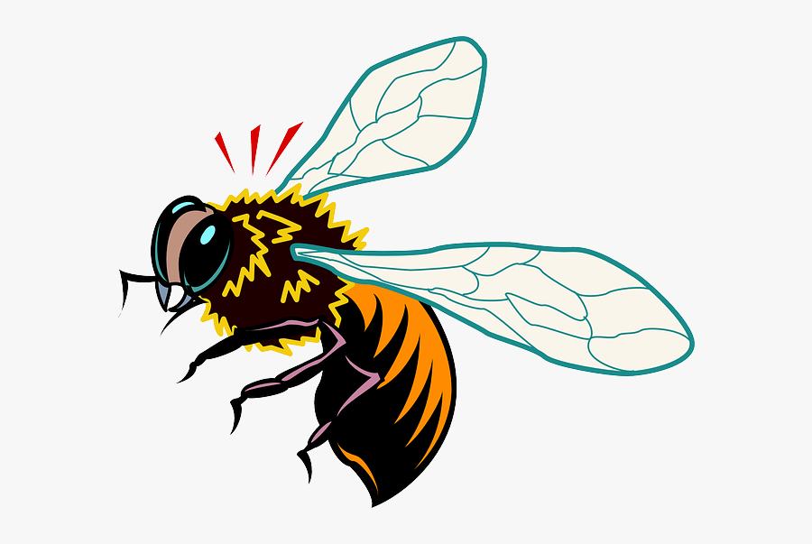 Stylized, Bee, Style, Wings, Art, Startled, Insect - Art Bee, Transparent Clipart