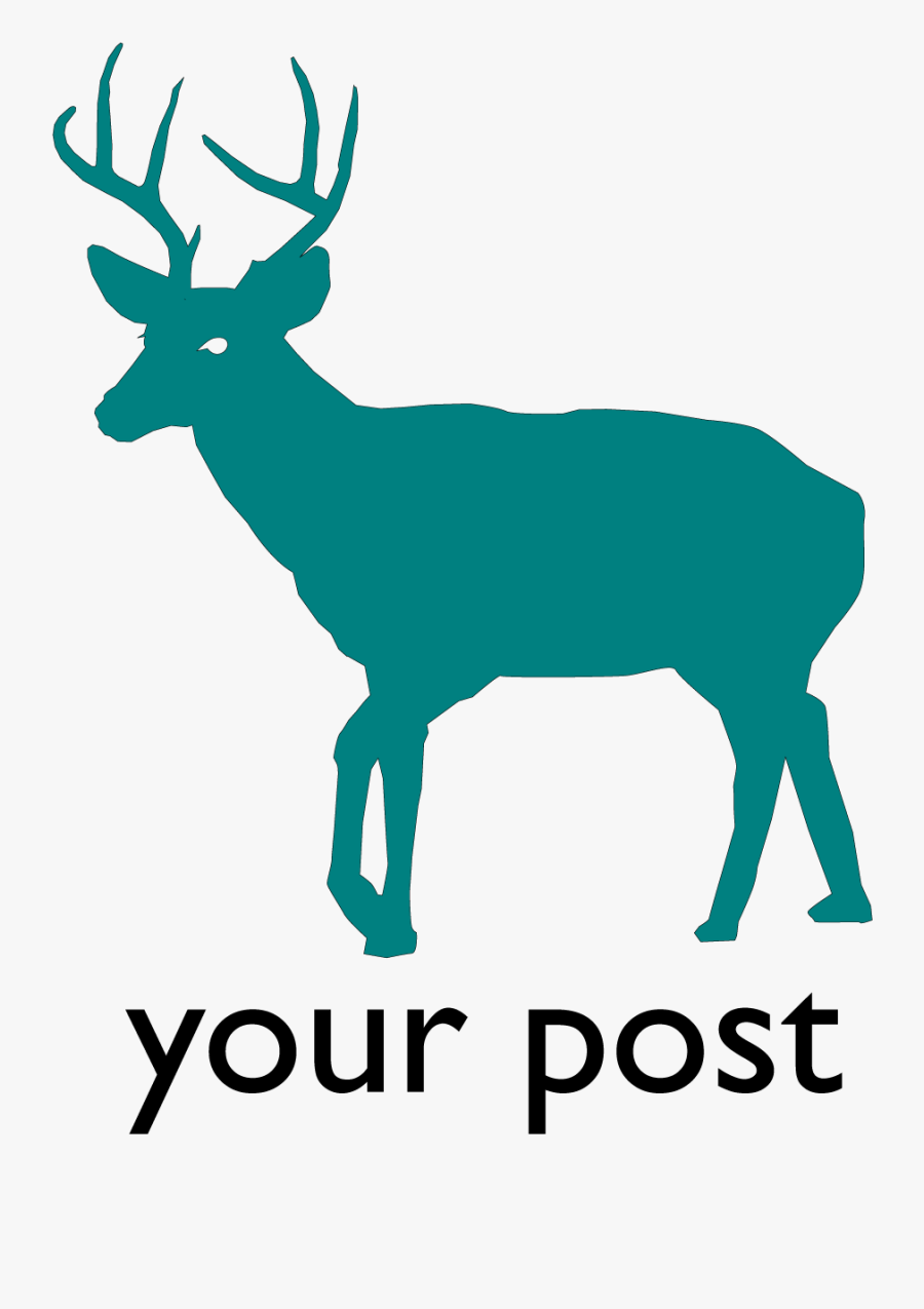 White-tailed Deer Silhouette Clip Art - White Tailed Deer Icon, Transparent Clipart