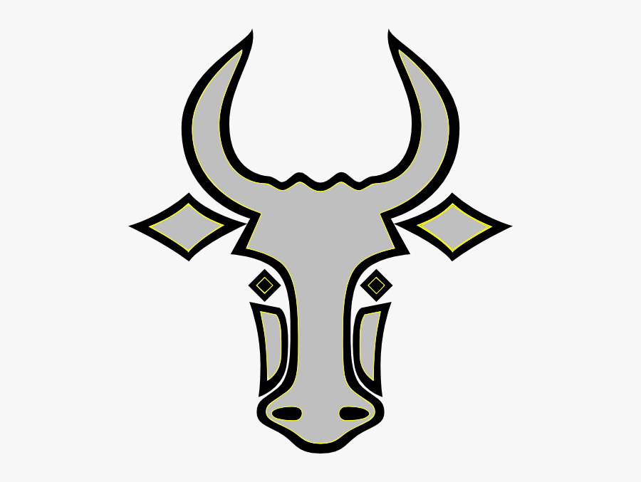My Bull Svg Clip Arts - Easy Bull Head Drawing, Transparent Clipart