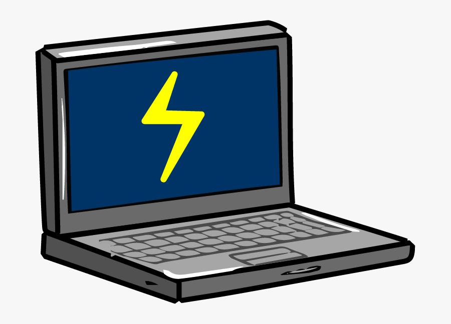 Computer Clipart Broken - Broken Computer Png Cartoon, Transparent Clipart
