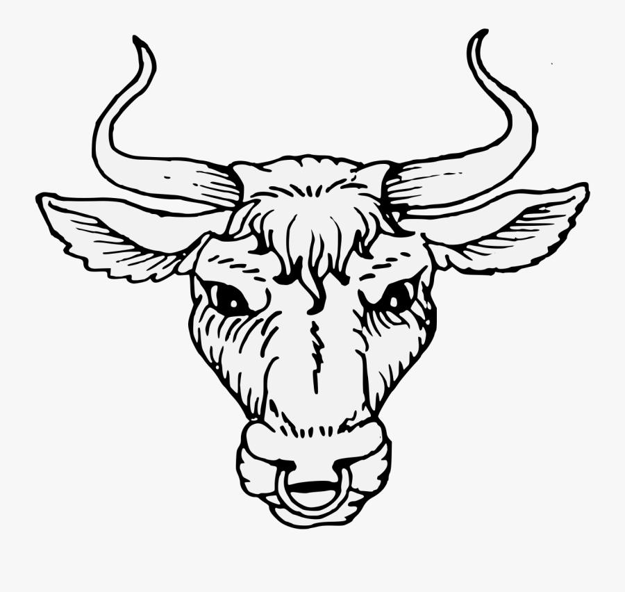 Transparent Bull Horns Png - Bull In Heraldry, Transparent Clipart