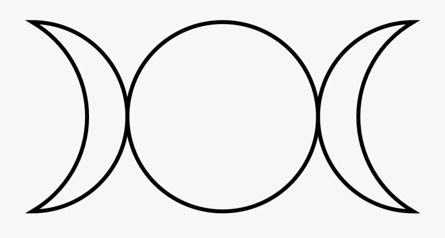 Onlinelabels Clip Art - Triple Goddess Symbol, Transparent Clipart