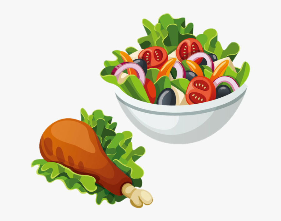 #food #salad #chicken #chickenleg #tomatoes #carrots - Salad Clipart, Transparent Clipart