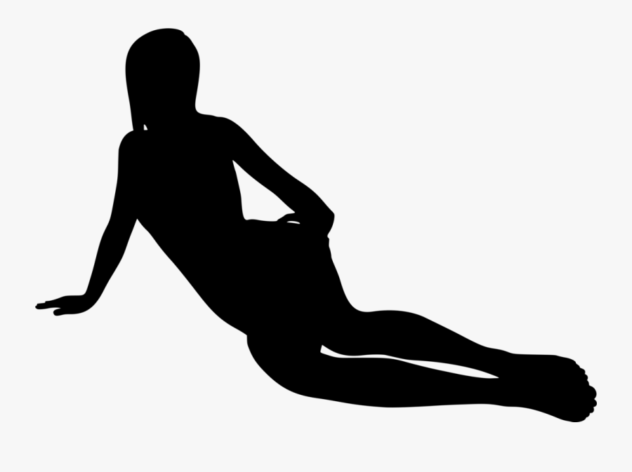 Standing,hip,human Leg - Girl Laying Down Silhouette, Transparent Clipart